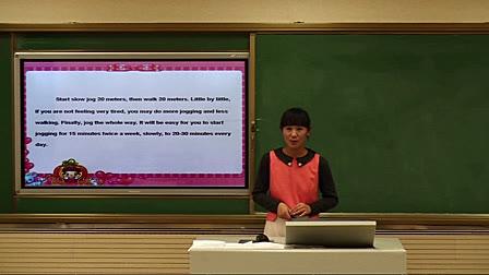 初中英语jogging课例设计说明说课视频(赵金凤)